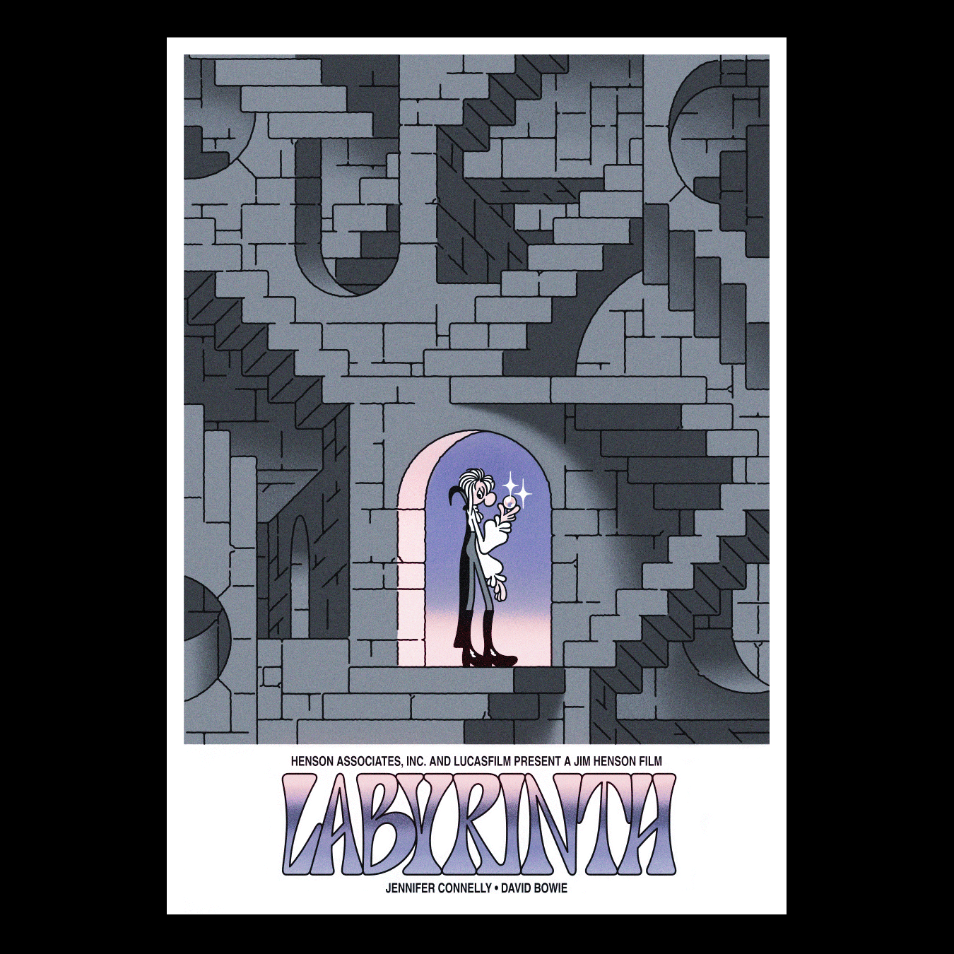 »Labyrinth« (BananaPosterPress)